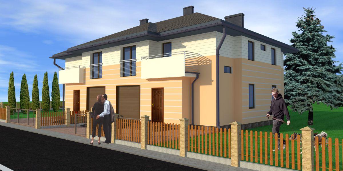 Biuro architektoniczne Białystok projekty - zabudowa bliźniacza