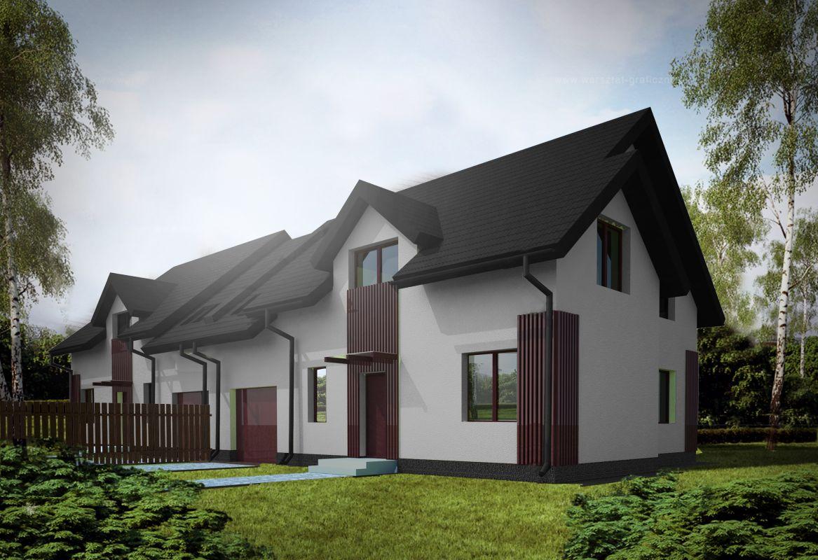 Budynki w zabudowie bliźniaczej propozycje architekta Białystok