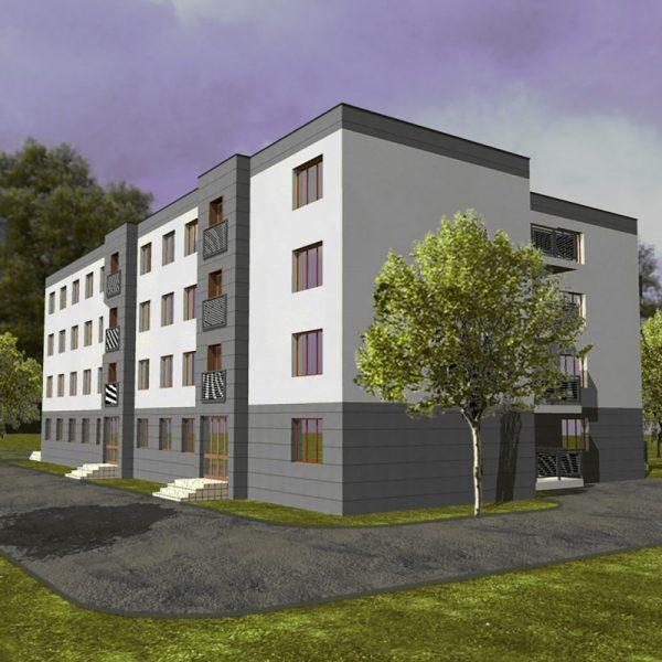 Projekt budynku mieszkalnego Białystok