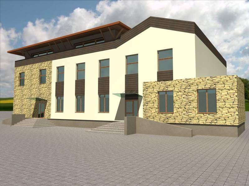 Projekt domu weselnego wykonany przez biuro projektowe z Białegostoku