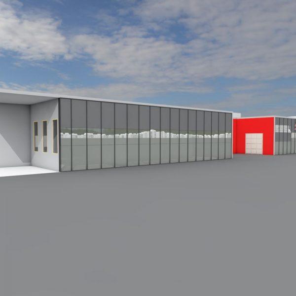 Projekt białostockich architektów - salon Citroena